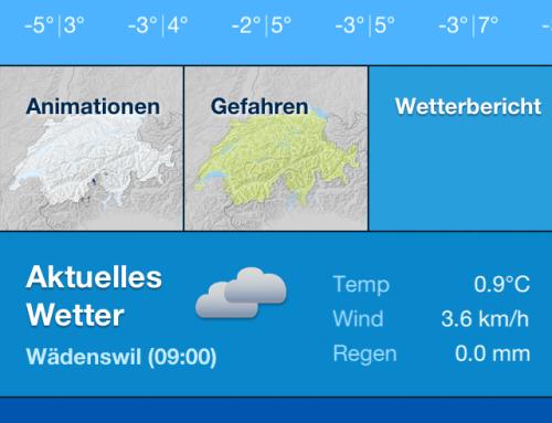 MeteoSchweiz – Die Wetterstation für die Hosentasche