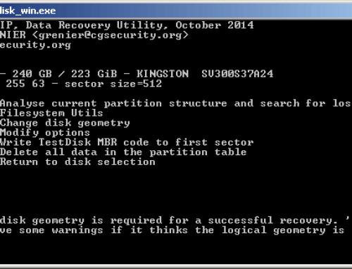 TestDisk – Verlorene Partitionen wiederherstellen