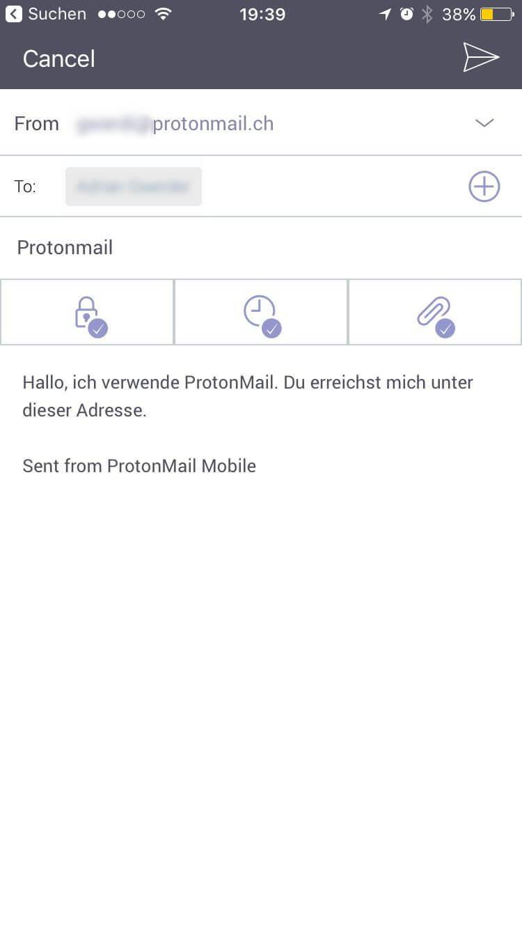 ProtonMail Nachricht