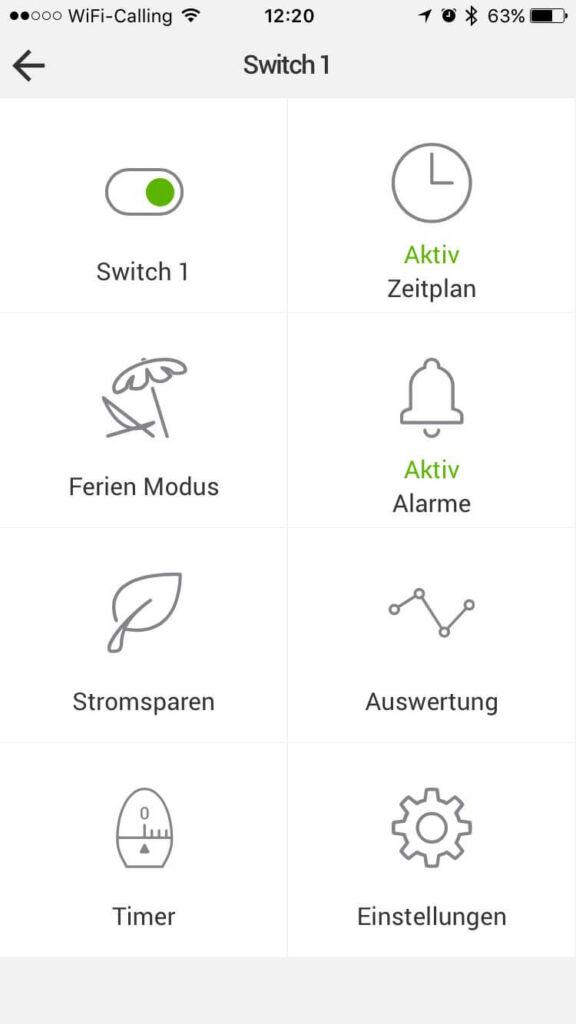 Mystrom App Switch Ansicht