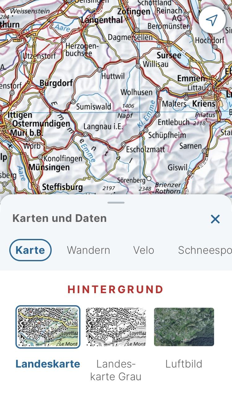 Swisstopo Karten