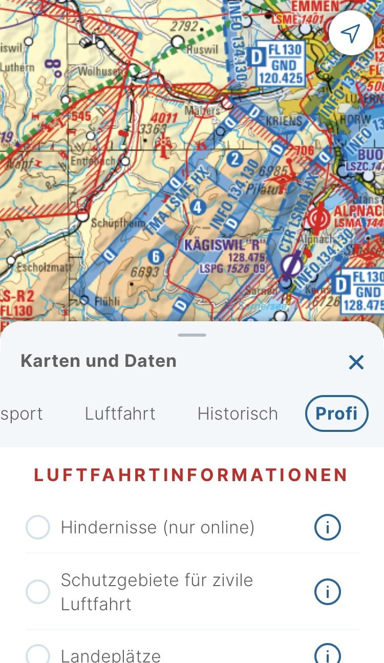 Swisstopo Luftfahrt
